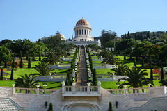 The bahai temple Royalty Free Stock Images
