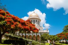 Bahai temple in Bahai garden, Carmel mountain Stock Image