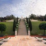 Bahai Temple and Bahai Gardens in Haifa Royalty Free Stock Photography