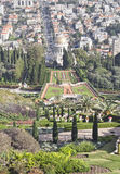 Bahai temple and city of haifa, israel Stock Photography