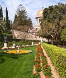 Bahai temple dome in israel Royalty Free Stock Photo