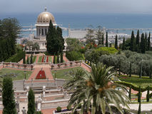 Bahai temple and garden Stock Photos