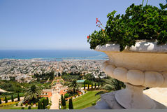 The Bahai Temple Gardens in Haifa Royalty Free Stock Image