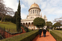Bahai Temple and gardens Royalty Free Stock Photography