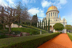 Bahai Temple and gardens Royalty Free Stock Image