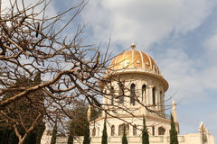 Bahai Temple and gardens Stock Photography