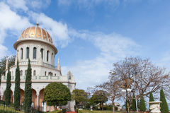 Bahai Temple and gardens Royalty Free Stock Photos