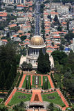 Bahai Temple and gardens Stock Photo