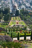 The Bahai Temple and Gardens in Haifa in Israel royalty free stock images