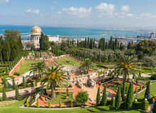 Bahai temple and gardens in Haifa, Israel Royalty Free Stock Image
