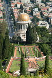 Bahai temple in Haifa, Israel stock image