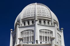 Bahai Temple in Illinois. Bahai House of Worship, Wilmette near Chicago Royalty Free Stock Photo