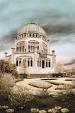 bahai temple Illinois obraz royalty free