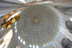 Bahai temple interior  in Chicago Stock Photo