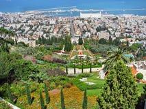 Bahai trädgårdar i Haifa Fotografering för Bildbyråer
