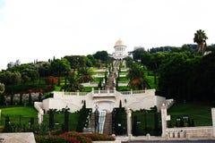 bahai trädgårds- israel Arkivbilder