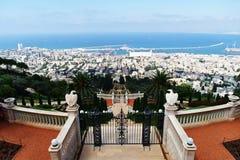 bahai trädgårds- israel Arkivfoto