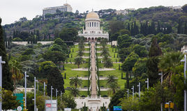 bahaien arbeta i trädgården haifa haifa israel Royaltyfri Bild