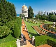 bahaien arbeta i trädgården haifa israel Royaltyfri Bild