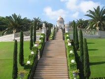 Bahaituinen in Haifa Stock Afbeelding