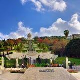 Bahaituinen in Haifa stock foto