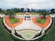 Bahaituinen met Heiligdom van Bab in Haifa, Israël Royalty-vrije Stock Afbeeldingen