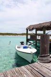 bahama小船码头 免版税库存照片