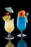 Bahama Mama and Blue Lagoon Royalty Free Stock Photos