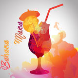 Bahama mama with color splash Royalty Free Stock Image