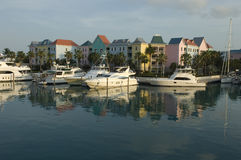 Bahama Suburbs. Early morning serenity of Paradise Island in the Bahamas stock photo