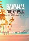 Bahamans Sea Shore Beach On Sunset Beautiful Seaside Landscape Summer Vacation Concept Royalty Free Stock Image
