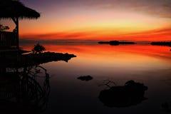 Bahamansk solnedgång Arkivfoto