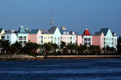 Bahamas. A beatiful vew of some typical coloured houses at nassau (bahamas Royalty Free Stock Photo