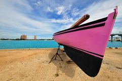 Bahamas. Boat on Nassau beach , Bahamas Stock Image