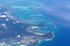 Bahamas. Aerial photo of Bahamas islands Royalty Free Stock Images