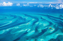 Bahamas aerial. Beautiful view of Bahamas islands from above Royalty Free Stock Photos