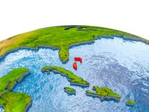 Bahamas auf Modell von Erde Lizenzfreie Stockfotos