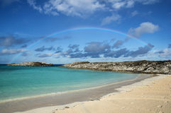 Bahamas Beach Rainbow Royalty Free Stock Photos