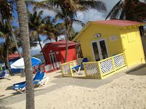 Bahamas. Beautiful small houses in the bahamas Royalty Free Stock Images