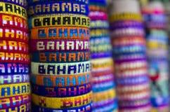 Bahamas Bracelets. Handmade bracelets made in the Bahamas stock photos