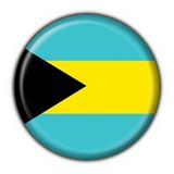 Bahamas button flag round shape Royalty Free Stock Photography