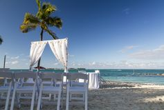 Bahamas, Cable Beach. Bahamas, the golden sands of Cable Beach royalty free stock photo