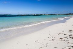 Bahamas, Cable Beach. Bahamas, the golden sands of Cable Beach royalty free stock image