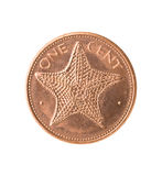 Bahamas coin with starfish, Stock Images