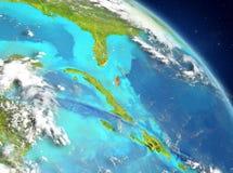 Bahamas de la órbita stock de ilustración