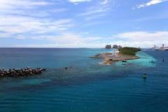 Bahamas de Nassau e ilha do paraíso Fotos de Stock