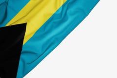 Bahamas des Gewebes mit copyspace f?r Ihren Text auf wei?em Hintergrund stock abbildung