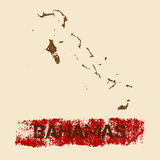 Bahamas distressed map. Stock Photography