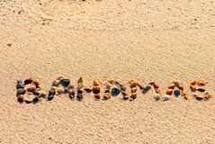 Bahamas en la arena Imágenes de archivo libres de regalías