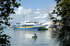 bahamas fast färjahamnön Arkivbilder